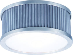 0-002180>Ruffle 4-Light Flush Mount Weathered Zinc and Satin Nickel