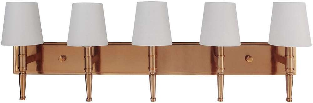 "39""w Ella 5-Light Bath Vanity Light Satin Brass"
