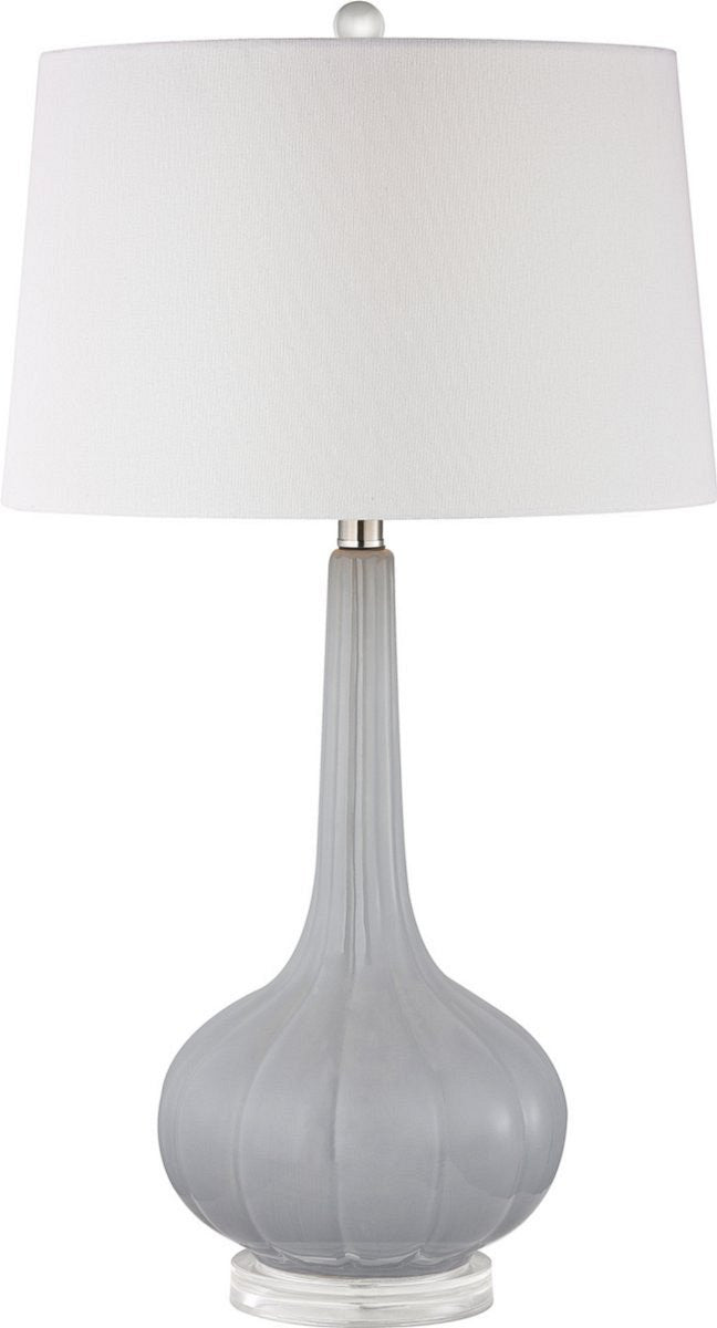 "30""H Abbey Lane 1-Light 3-Way Table Lamp Pastel Blue"