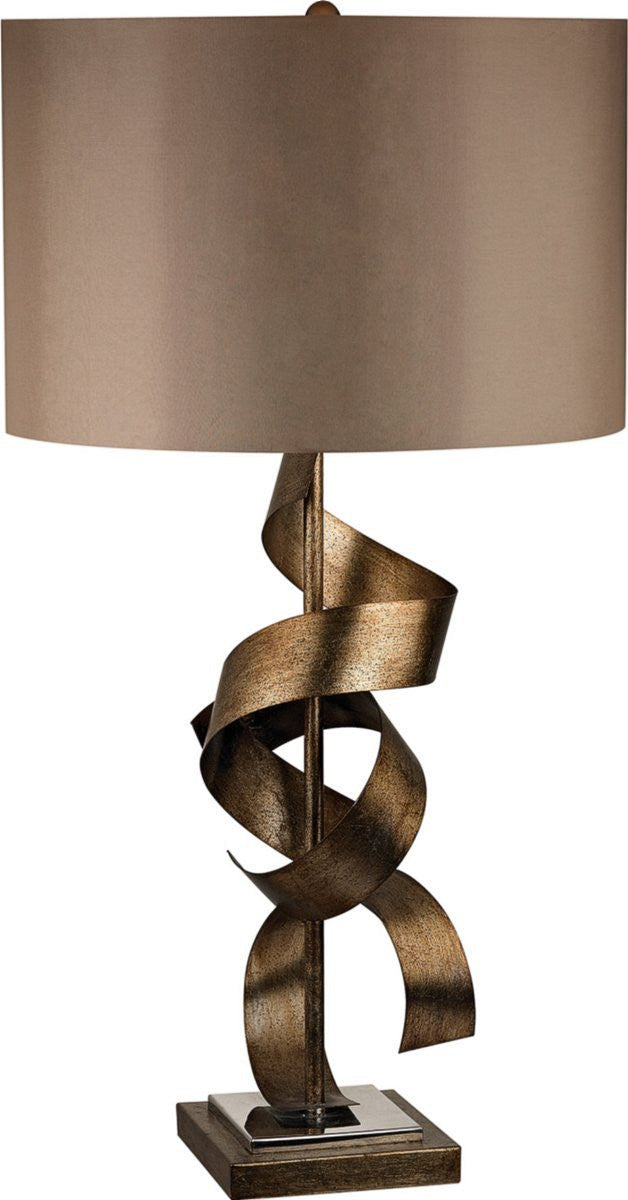 Allen 1-Light 3-Way Table Lamp Roxford Gold