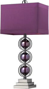 "27""h Alva Table Lamp Purple/Black Nickle"