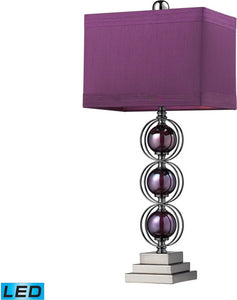 Alva 1-Light LED Table Lamp Purple / Black Nickle
