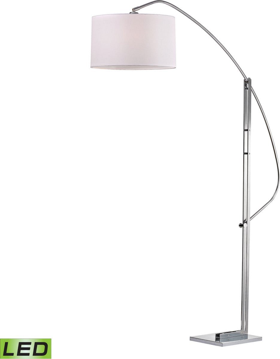 Assissi 1-Light LED Arc Floor Lamp Polished Nickel