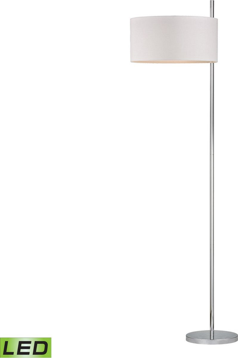 Dimond attwood floor lamp polished nickle d2473led lampsusa attwood 1 light led floor lamp polished nickel mozeypictures Images