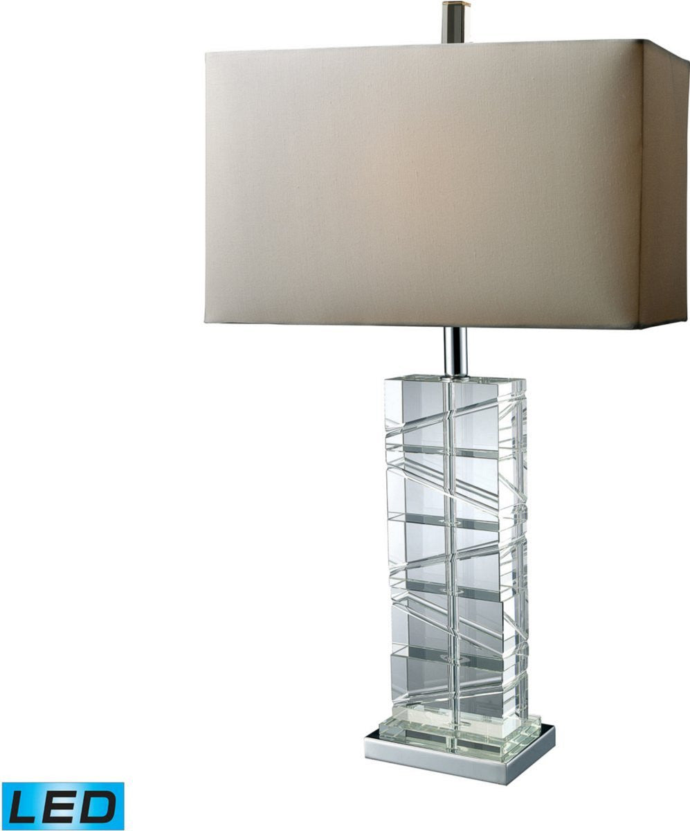 Avalon 1-Light 3-Way LED Table Lamp Chrome/Crystal