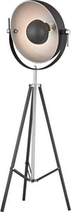 Backstage 3-Light Floor Lamp Matt Black / Polished Nickel