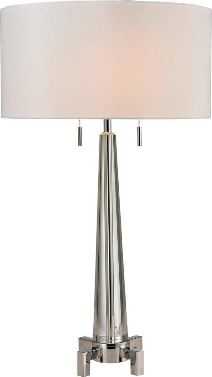 Bedford 2-Light Table Lamp Clear Glass/Chrome