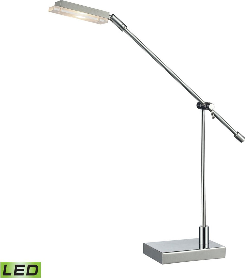 Bibliotheque 1-Light LED Desk Lamp Chrome