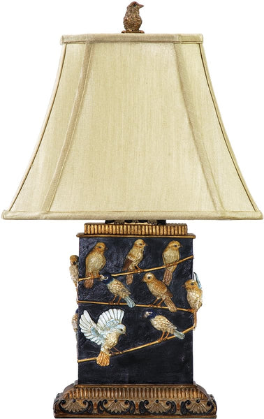Dimond Birds On A Branch 1-Light Table Lamp Black and Gold 93530
