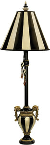 Dimond Carnival Stripe 1-Light Table Lamp Black/Antique White 91234