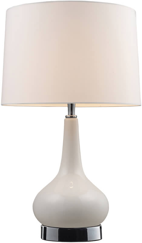 "18""h Mary Kate and Ashley Continuum 1-Light Accent Lamp White and Chrome"