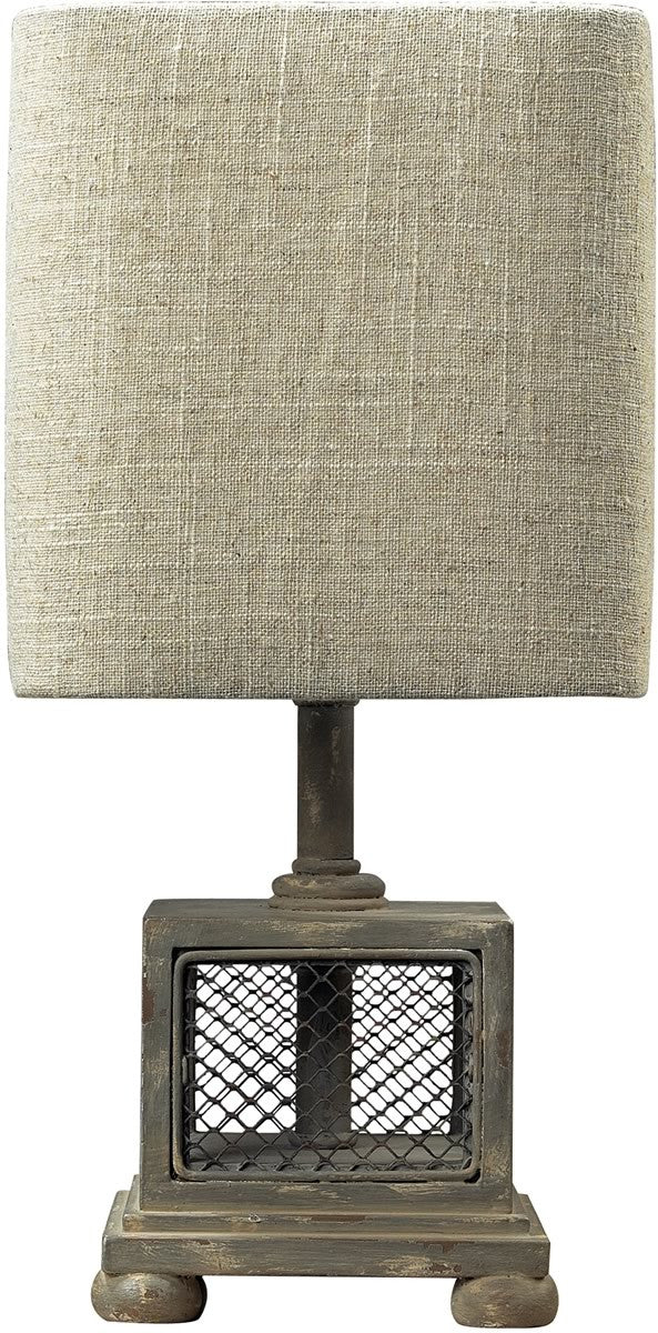 "13""h Delambre 1-Light Mini Lamp Montauk Grey"