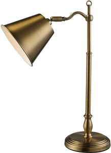 "19""h Hamilton On/Off Line Desk Lamp Antique Brass"