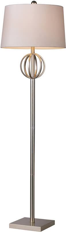 "62""H Donora  1-Light Floor Lamp Silver Leaf"