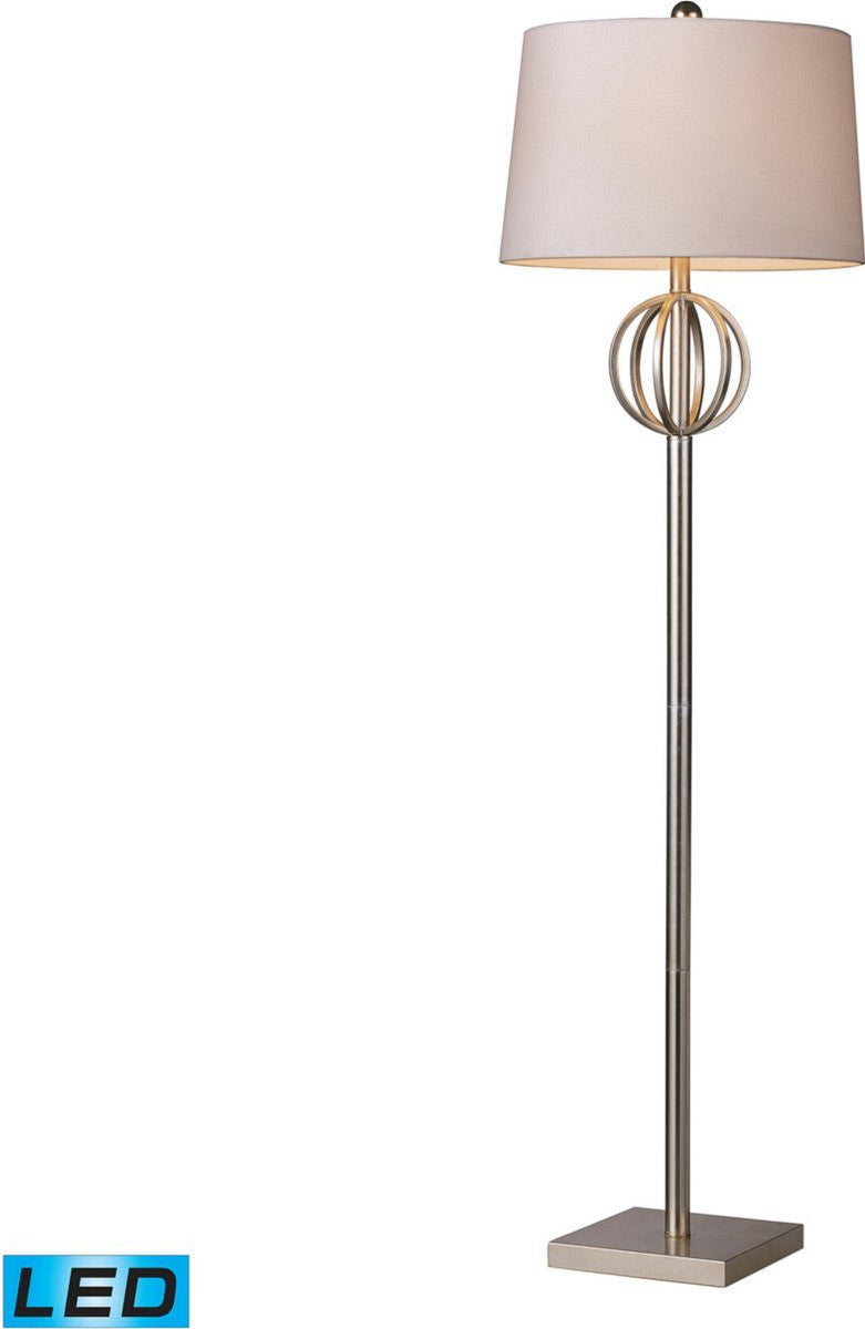Donora 1-Light LED 3-Way Floor Lamp Silver Leaf