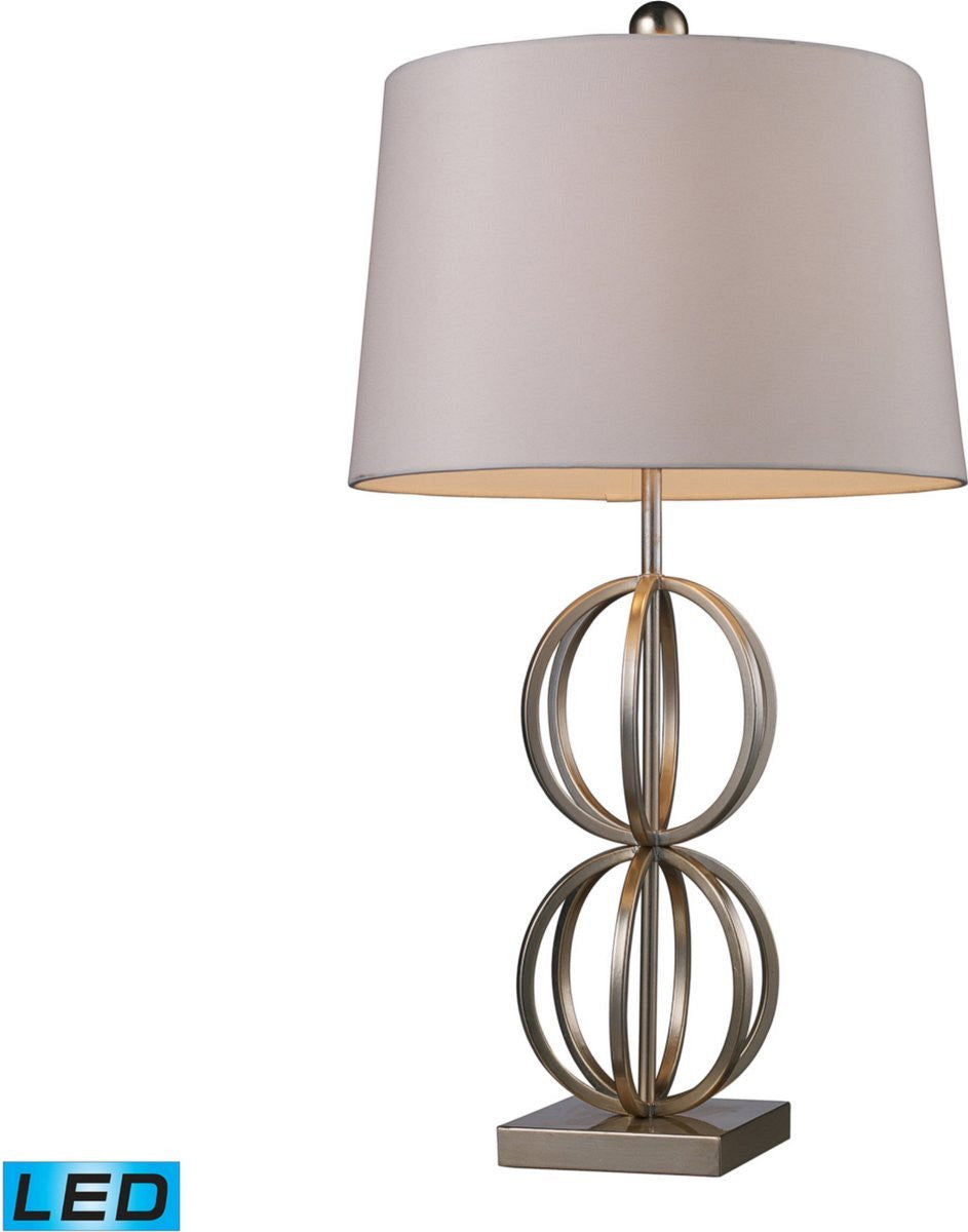 "29""H Donora 1-Light LED 3-Way Table Lamp Silver Leaf"