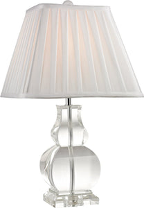 Downtown 1-Light Crystal Table Lamp Clear