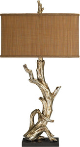 "35""h Driftwood 1-Light Table Lamp Silver Leaf"