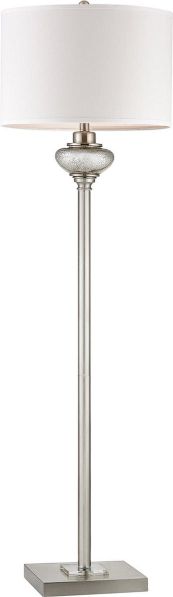 "60""H Edenbridge 2-Light LED 3-Way Floor Lamp Antique Silver Mercury Glass / Crystal Accents"