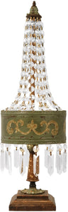 "Eiffel 25""H 1-Light Crystal Table Lamp Parisian Moss"