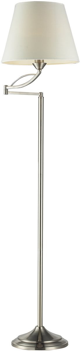 "56""h Elysburg 1-Light Floor Lamp Satin Nickel"