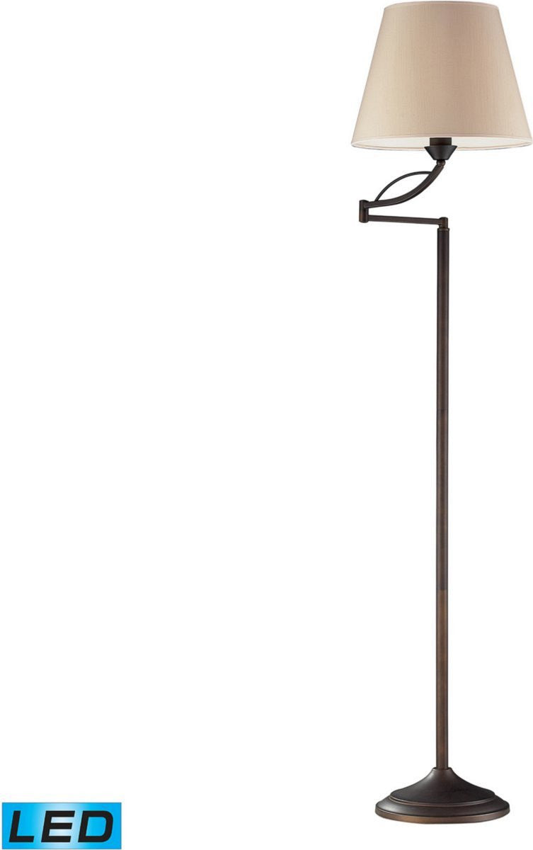 Elysburg 1-Light LED 3-Way Floor Lamp Aged Bronze