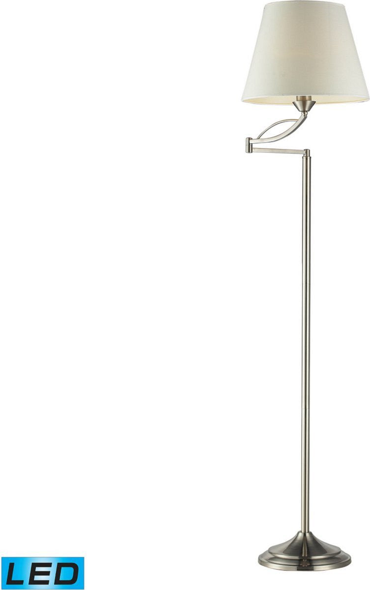 "56""H Elysburg 1-Light LED 3-Way Floor Lamp Satin Nickel"