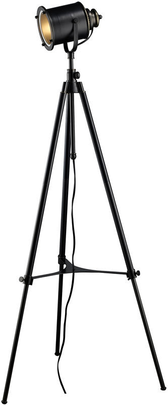 "Ethan 63""H On/Off Line Tripod Floor Lamp Restoration Black"