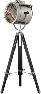 Curzon 1-Light floor Lamp Chrome and Black