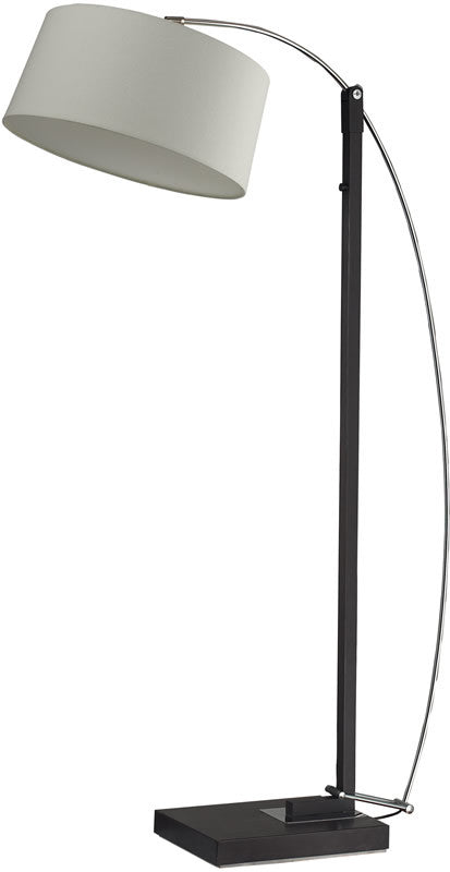 Logan Square 1-Light Arc Floor Lamp Dark Brown