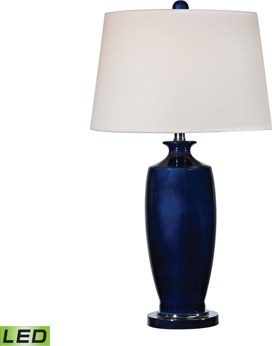 "27""H Halisham 1-Light LED 3-Way Table Lamp Navy Blue / Black Nickle"