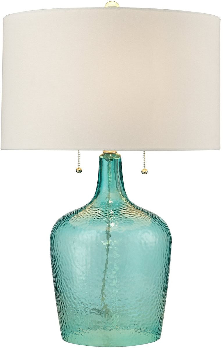 Hatteras 2-Light LED Table Lamp Seabreeze Blue