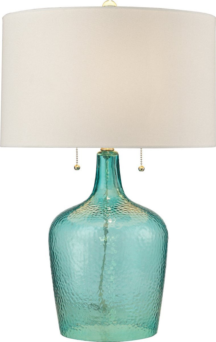 Hatteras 2-Light Table Lamp Seabreeze Blue