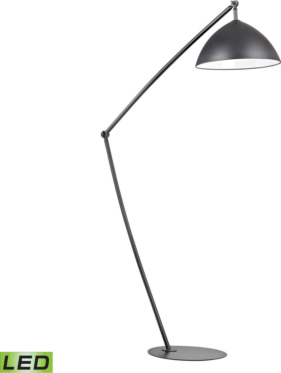 Industrial Elements 1-Light LED Arch Floor Lamp Matt Black