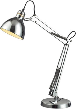 "26""H Ingelside 1-Light Desk Lamp Chrome"
