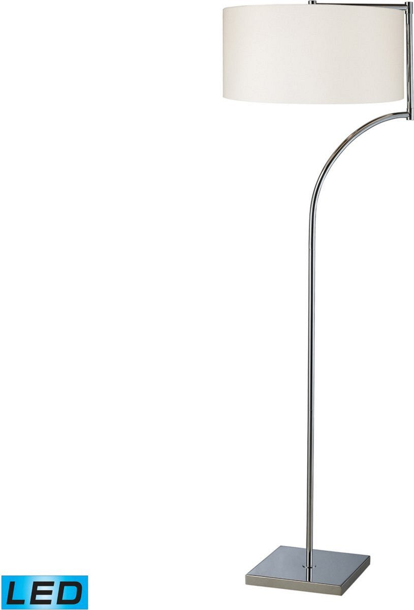 Lancaster 1-Light LED Floor Lamp Chrome
