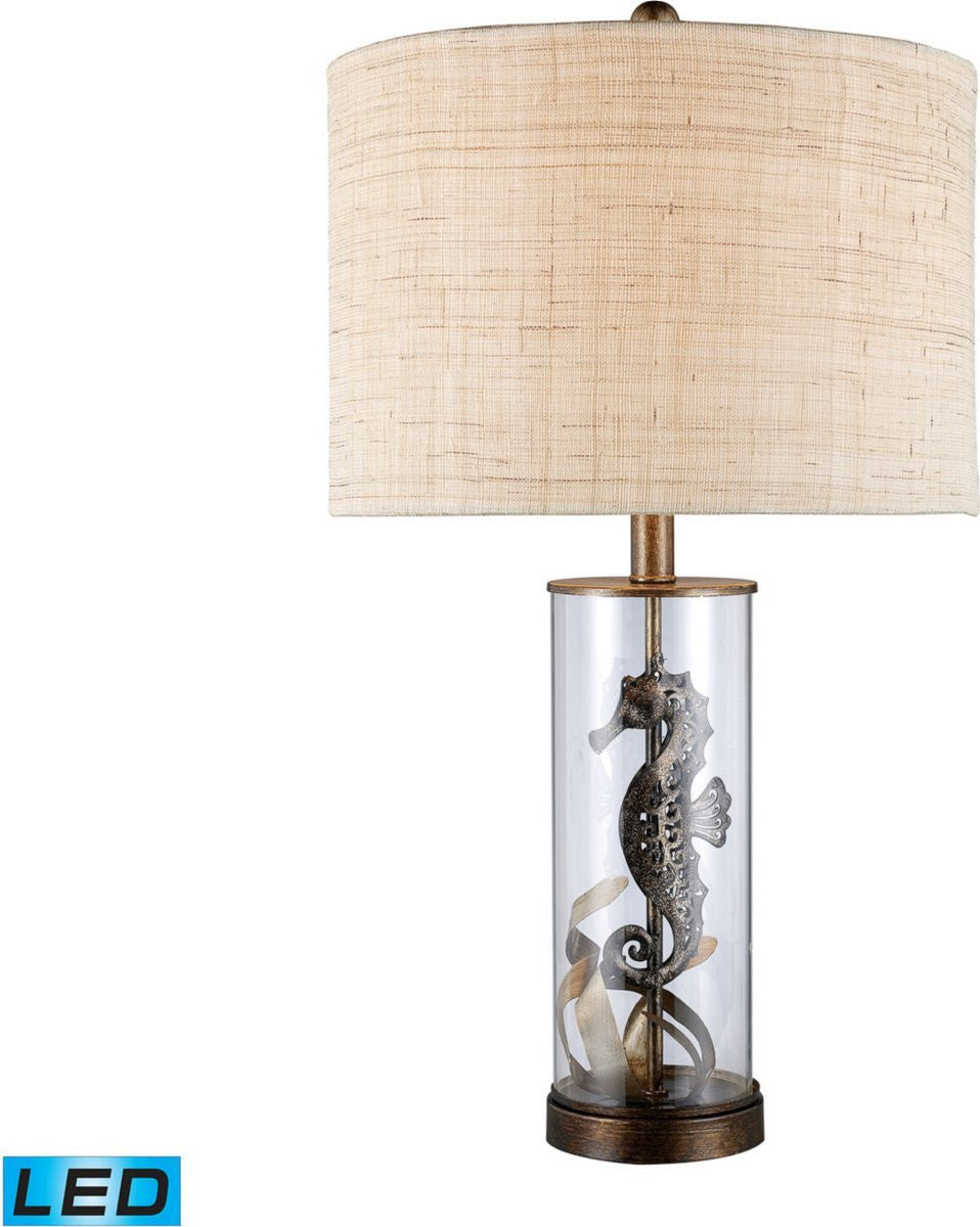 Largo 1-Light LED 2-Way Switch Table Lamp Bronze And Clear Glass