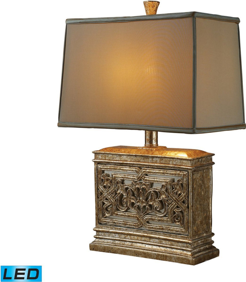 "25""H Laurel Run 1-Light LED 3-Way Table Lamp Courtney Gold"