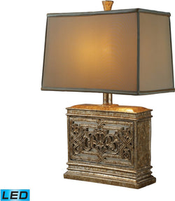 Laurel Run 1-Light LED 3-Way Table Lamp Courtney Gold