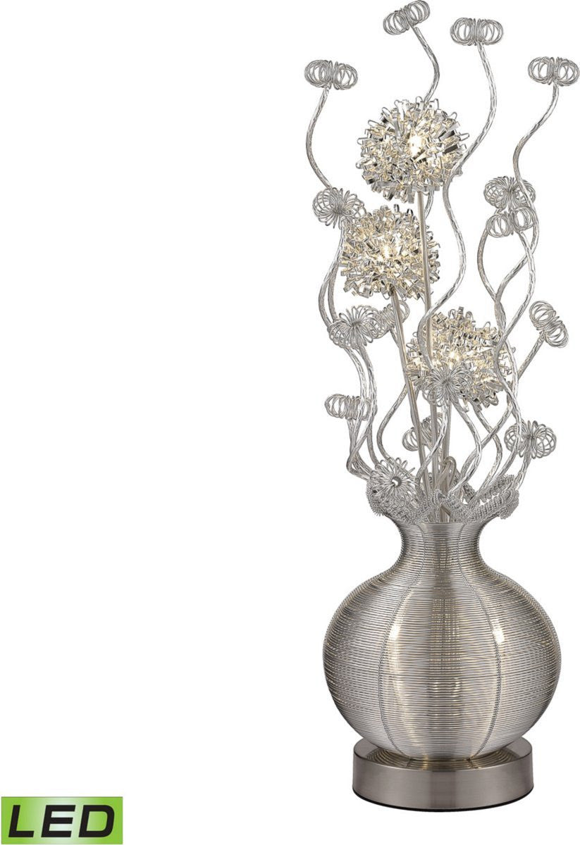 Lazelle 5-Light LED Floor Lamp Silver