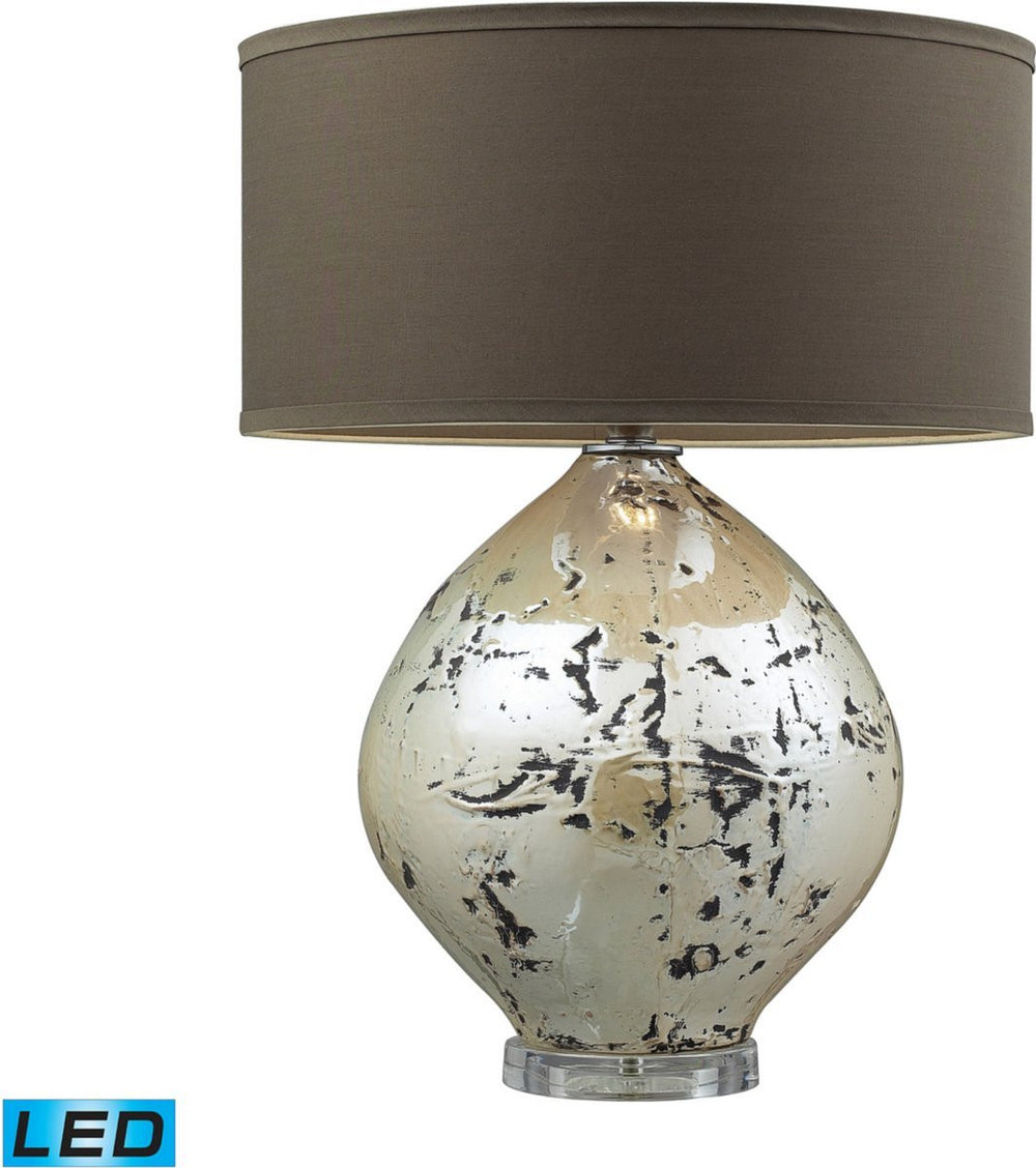 "25""H Limerick 1-Light LED 3-Way Table Lamp Turrit Gloss Beige"
