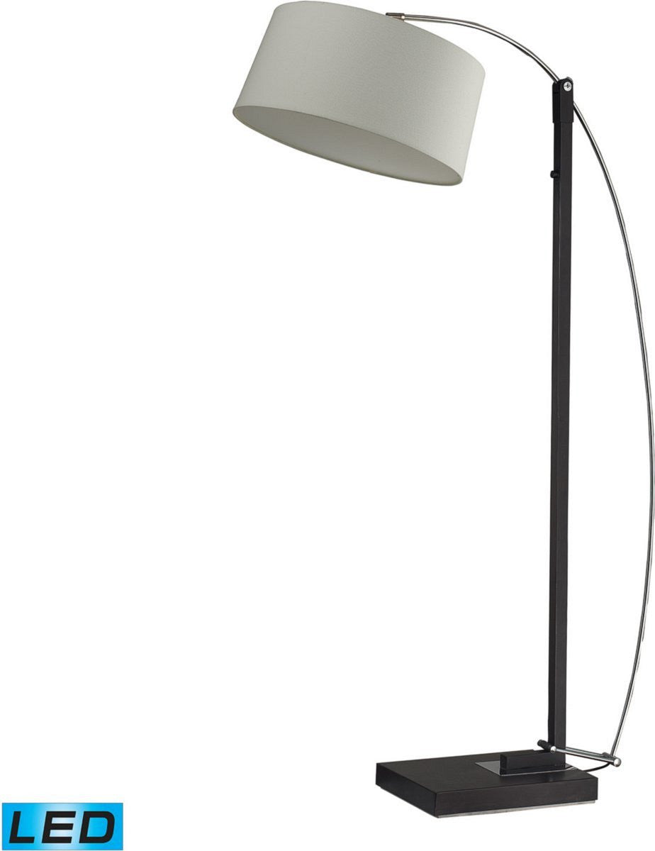 Logan Square 3-Light LED Arc Floor Lamp Dark Brown