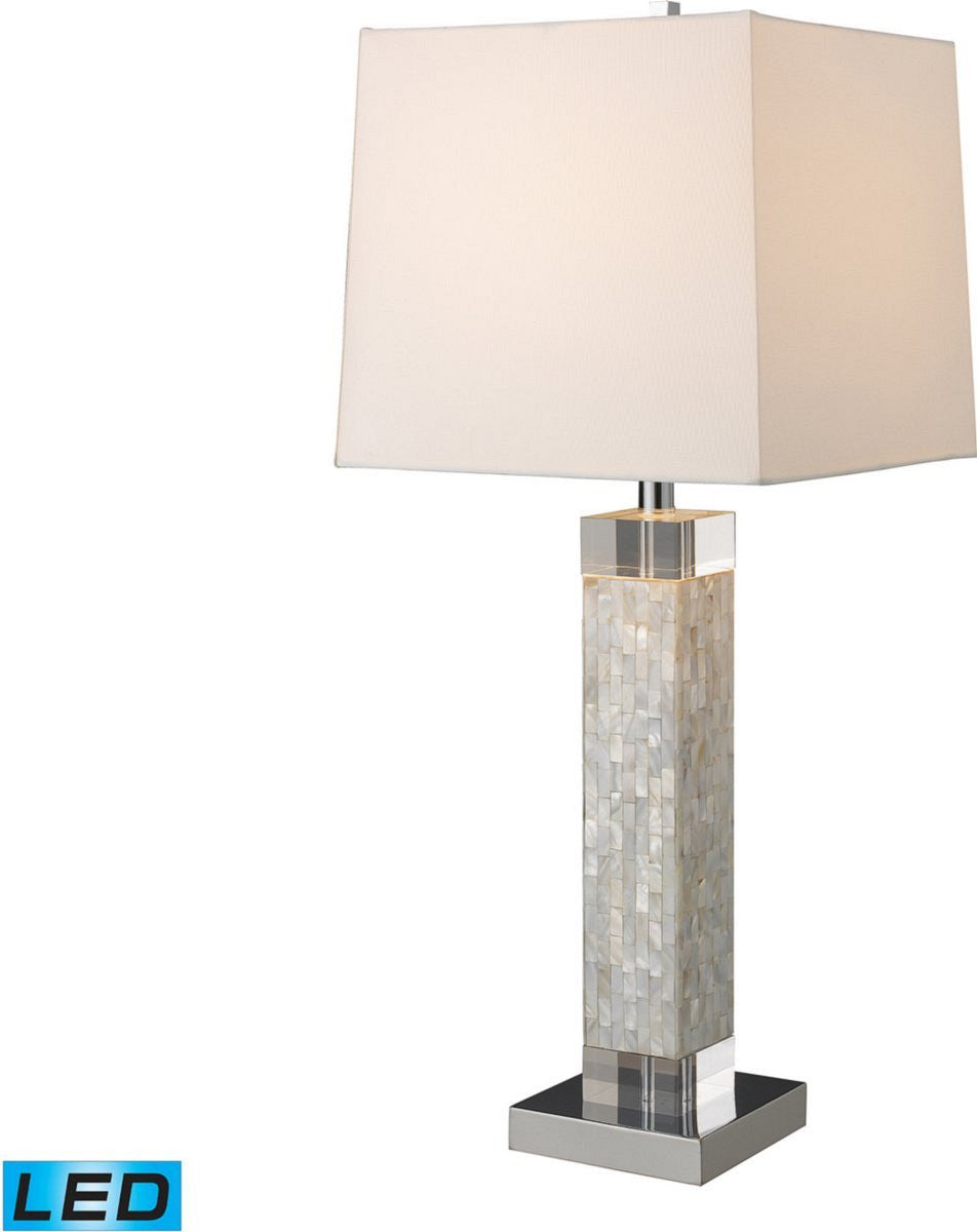 "32""H Luzerne 1-Light LED 3-Way Table Lamp Mother Of Pearl"