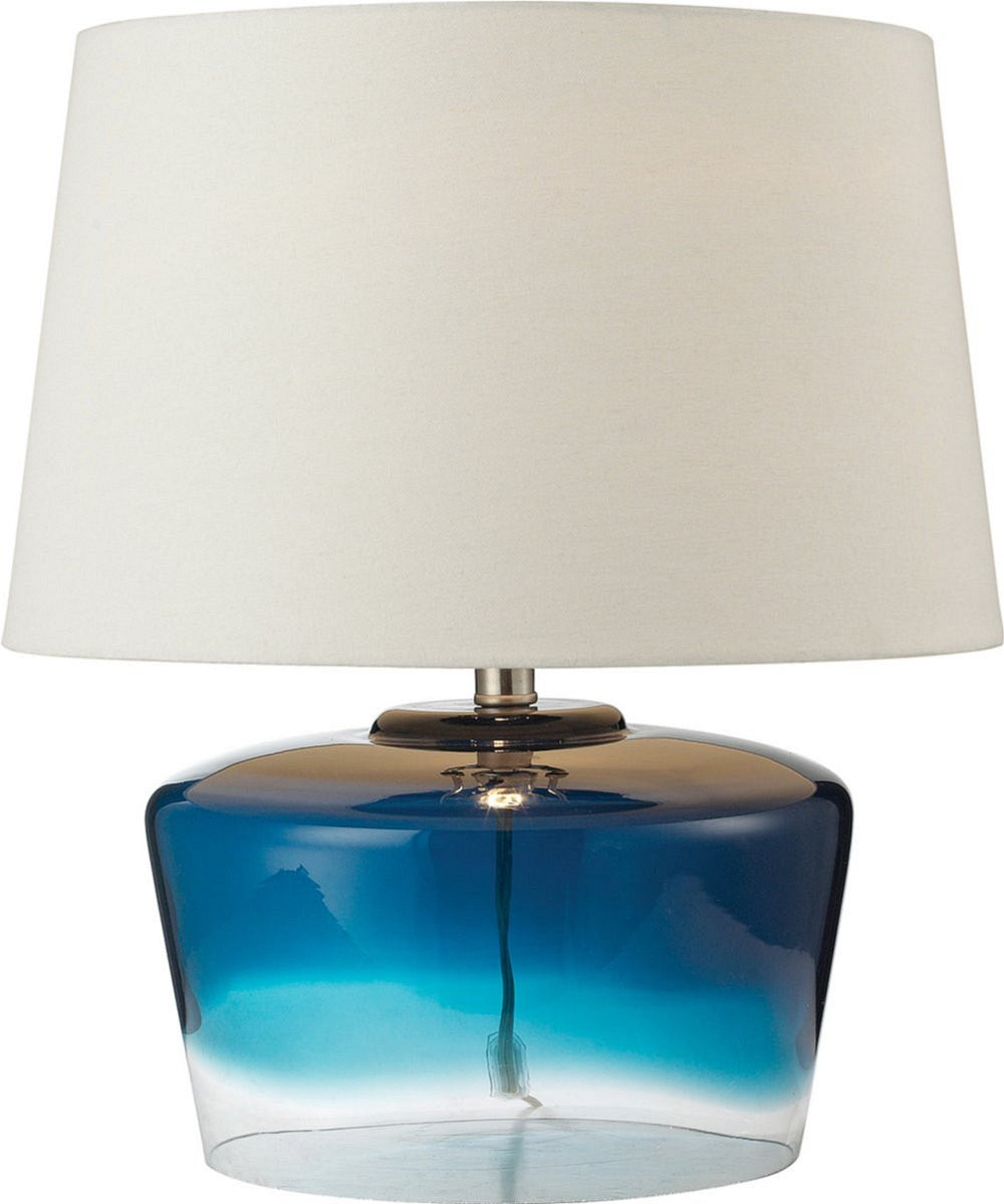 Macaw Well 1-Light 3-Way Table Lamp Blue And Clear