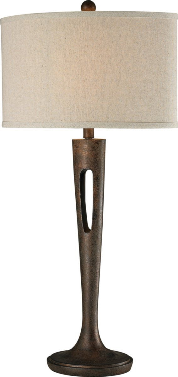 "35""H Martcliff 1-Light 3-Way Table Lamp Burnished Bronze"