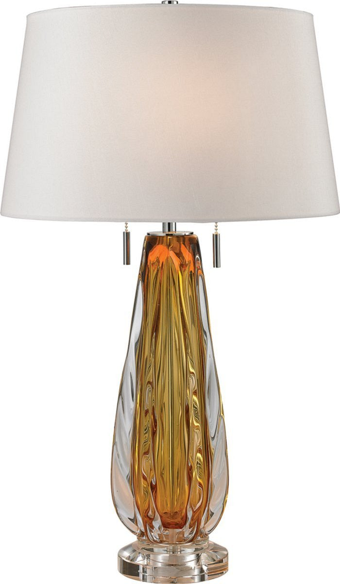 "26""H Modena 2-Light Table Lamp Amber"
