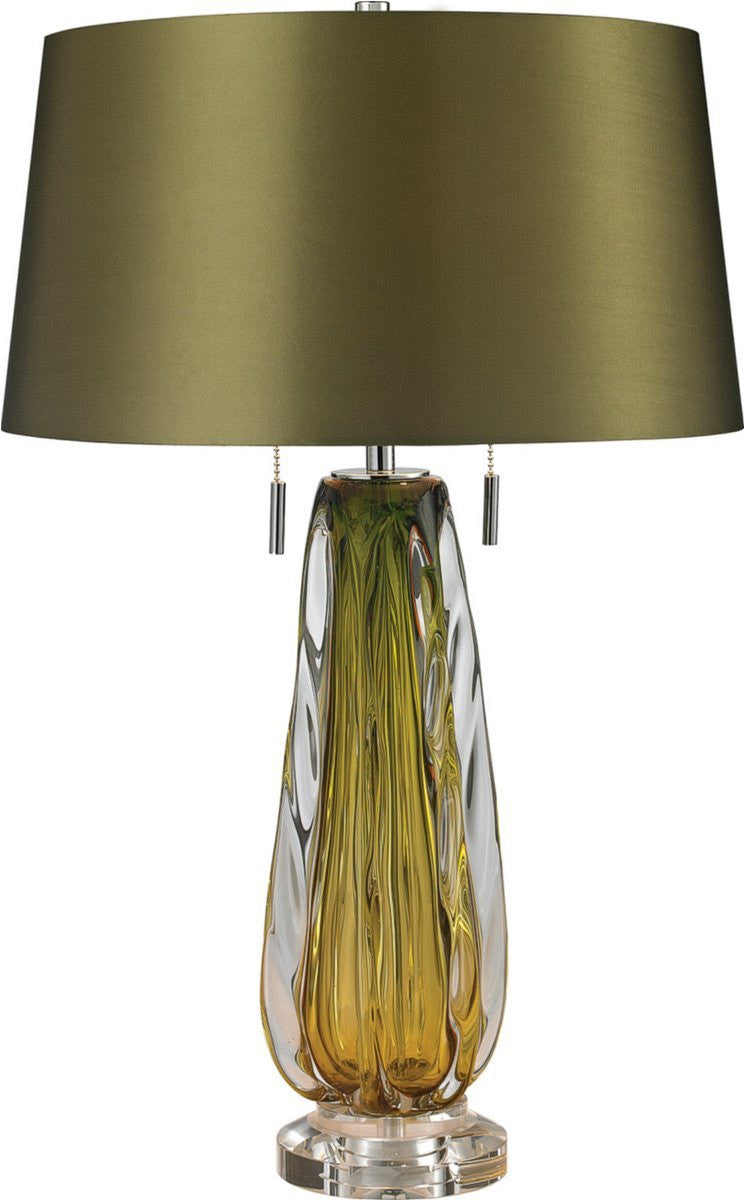 Modena 2-Light Table Lamp Green