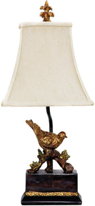 Dimond Perching Robin 1-Light Table Lamp Gold Leaf/Black 91171