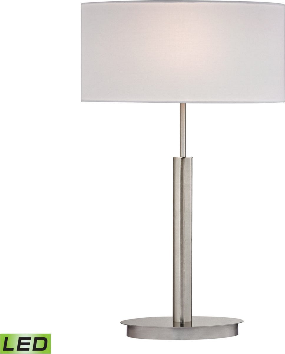 "24""H Port Elizabeth 1-Light LED Table Lamp Satin Nickle"