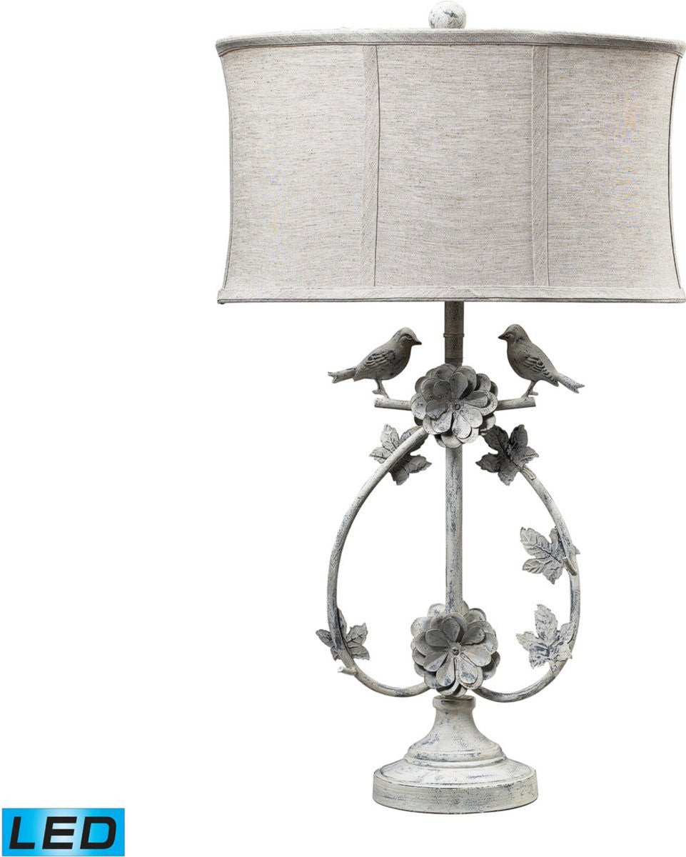 Saint Louis Heights 1-Light LED 3-Way Table Lamp Antique Whte